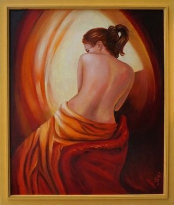 Femininity and light oil painting handpainted